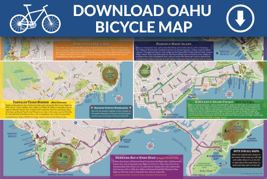 photograph regarding Printable Map of Waikiki identified as Oahu Moped and Motorcycle Maps